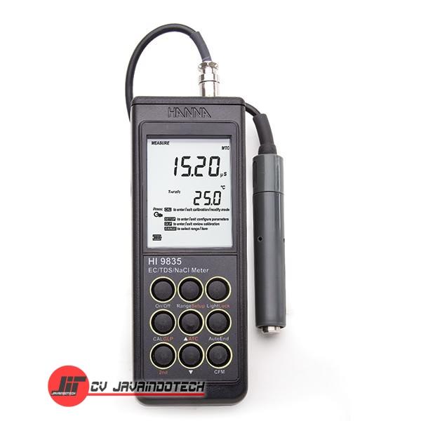 Review Spesifikasi dan Harga Jual Hanna Instruments HI-9835N EC/TDS/°C/NaCl Meter for Laboratory and Field Applications original termurah dan bergaransi resmi