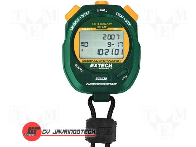 Review Spesifikasi dan Harga Jual Extech 365535: Decimal Stopwatch/Clock Water resistant decimal stopwatch/clock with user-selectable resolutions original termurah dan bergaransi resmi