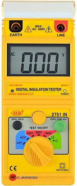 Review Spesifikasi dan Harga Jual SEW Analogue (1kV below) Insulation Testers 2751 IN original termurah dan bergaransi resmi