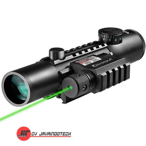 Review Spesifikasi dan Harga Jual Barska 4x28 IR Electro Sight Multi-Rail GLX Green Laser original termurah dan bergaransi resmi