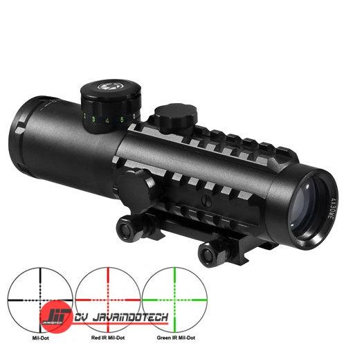 Review Spesifikasi dan Harga Jual Barska 4x30 IR Electro Sight w/Red Laser and Flashlight original termurah dan bergaransi resmi