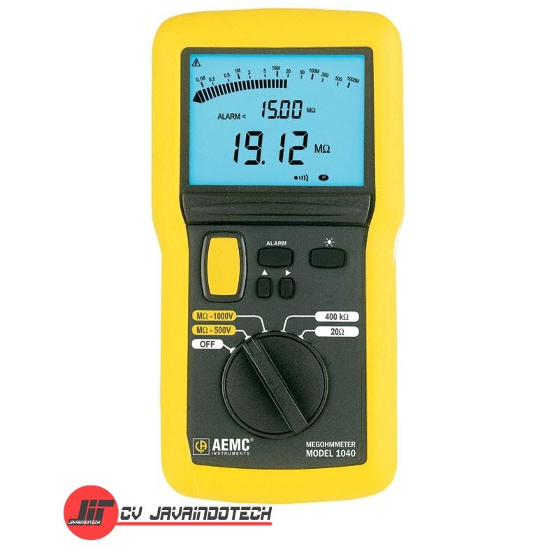 Review Spesifikasi dan Harga Jual AEMC 1040 (1000V) Digital/Analog Megohmmeters - Insulation Tester original termurah dan bergaransi resmi