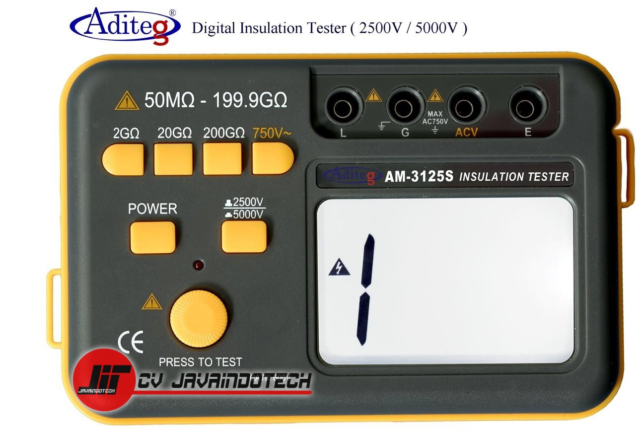 Review Spesifikasi dan Harga Jual Aditeg Digital Insulation Tester AM-3125 S original termurah dan bergaransi resmi